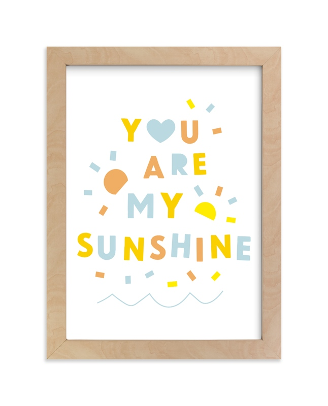 """""""Sunshine Letters"""" - Limited Edition Art Print by Ariel Rutland in beautiful frame options and a variety of sizes."""