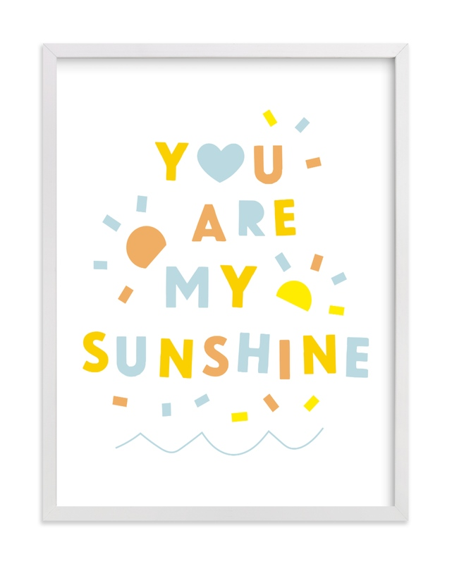 This is a colorful kids wall art by Ariel Rutland called Sunshine Letters.