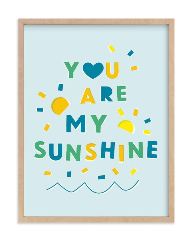 Sunshine Letters Children's Art Print