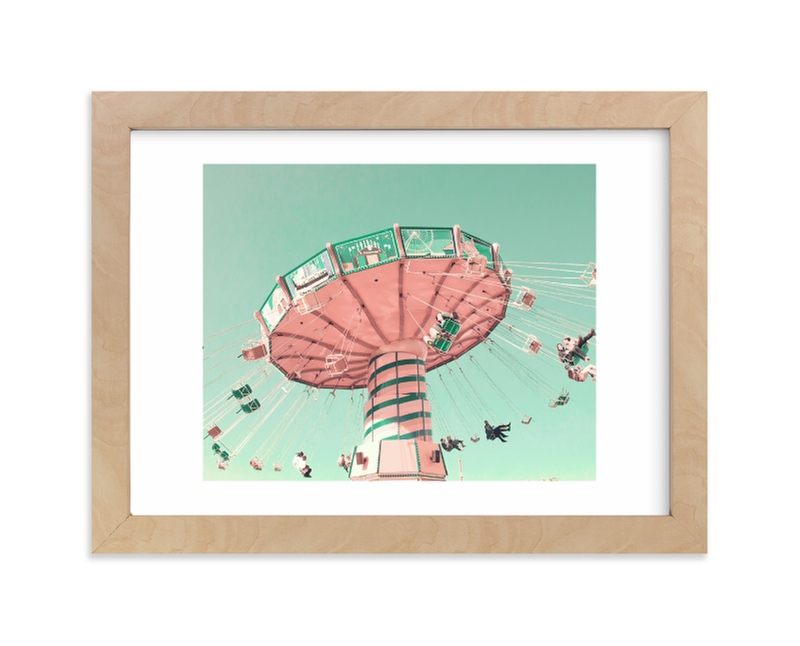 """""""Swing Ride"""" - Limited Edition Art Print by Caroline Mint in beautiful frame options and a variety of sizes."""