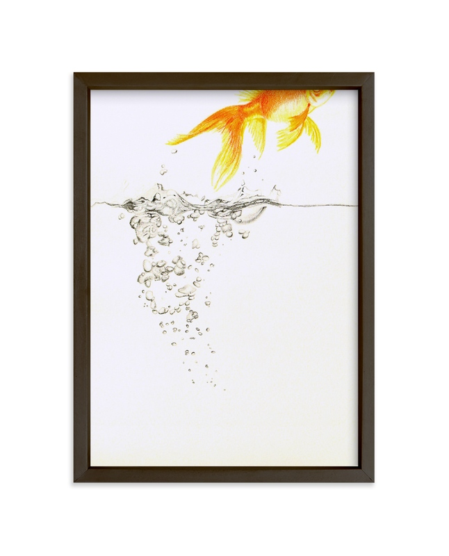"""""""Aquatic High Jump 2 of 3"""" - Limited Edition Art Print by Deborah Chou in beautiful frame options and a variety of sizes."""