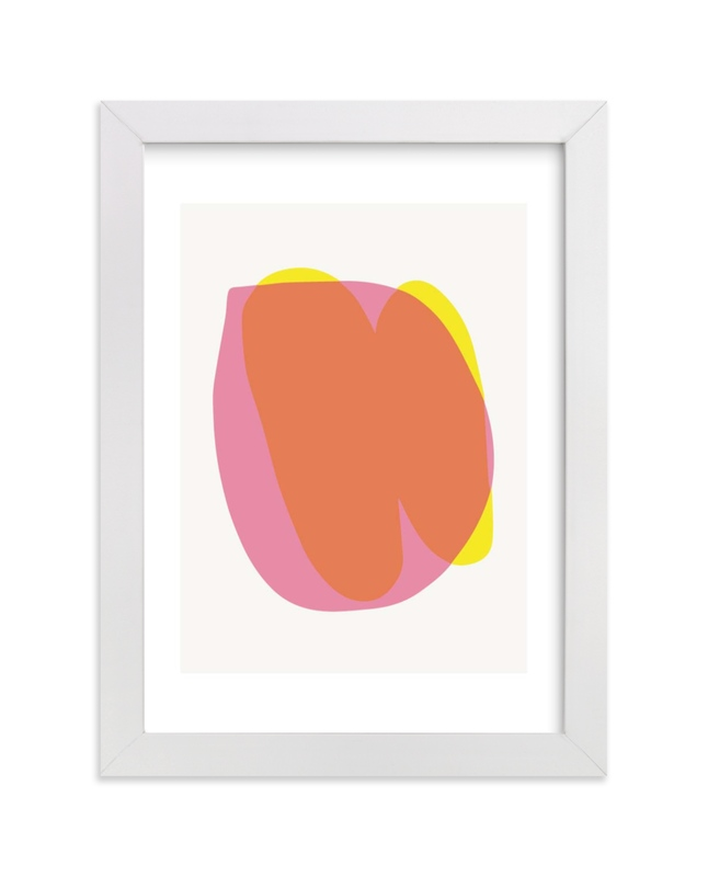 """little pink and little yellow"" - Limited Edition Art Print by tina johnson in beautiful frame options and a variety of sizes."