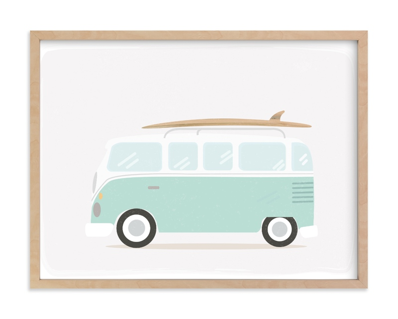 """""""Beach Bus"""" - Limited Edition Art Print by Itsy Belle Studio in beautiful frame options and a variety of sizes."""