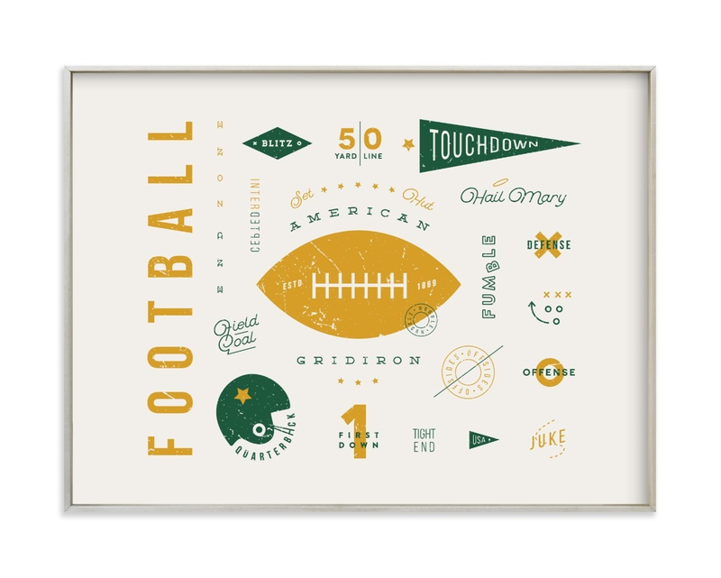 """American Football Vocab"" - Limited Edition Art Print by Dana Beckwith in beautiful frame options and a variety of sizes."