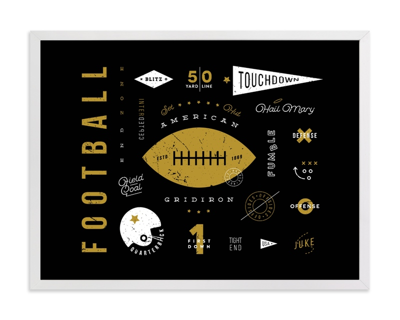 American Football Vocab Children's Art Print