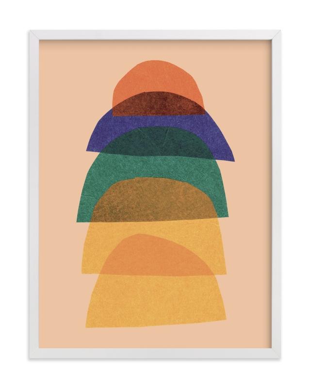 paper stack Children's Art Print