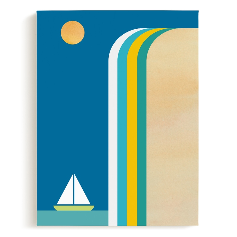 Smooth Sailin Children's Art Print