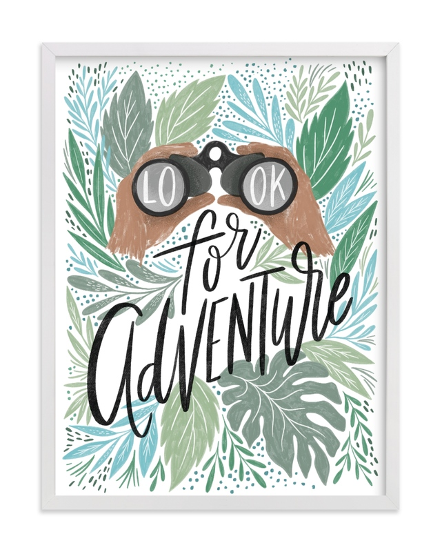 """Look for Adventure"" - Limited Edition Art Print by Alethea and Ruth in beautiful frame options and a variety of sizes."