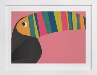 Stripy Toucan Children's Art Print