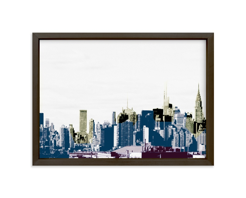 """layers of skyline"" - Limited Edition Art Print by van tsao in beautiful frame options and a variety of sizes."