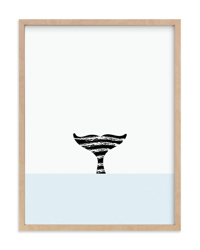 """""""Whale of a Tale"""" - Limited Edition Art Print by Alicia Youngken in beautiful frame options and a variety of sizes."""