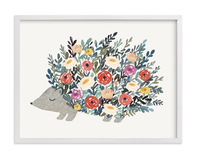 """""""Porcupine Bloom"""" - Limited Edition Art Print by Afton Harding in beautiful frame options and a variety of sizes."""