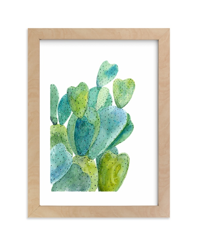 """""""Cacti"""" - Limited Edition Art Print by Alexandra Dzh in beautiful frame options and a variety of sizes."""