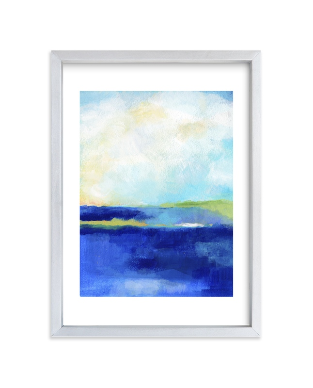 """""""Blue Harbor"""" - Limited Edition Art Print by Alison Jerry Designs in beautiful frame options and a variety of sizes."""