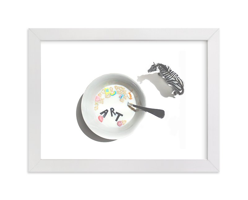 """Cereal & Milk"" - Limited Edition Art Print by Calais A Le Coq in beautiful frame options and a variety of sizes."