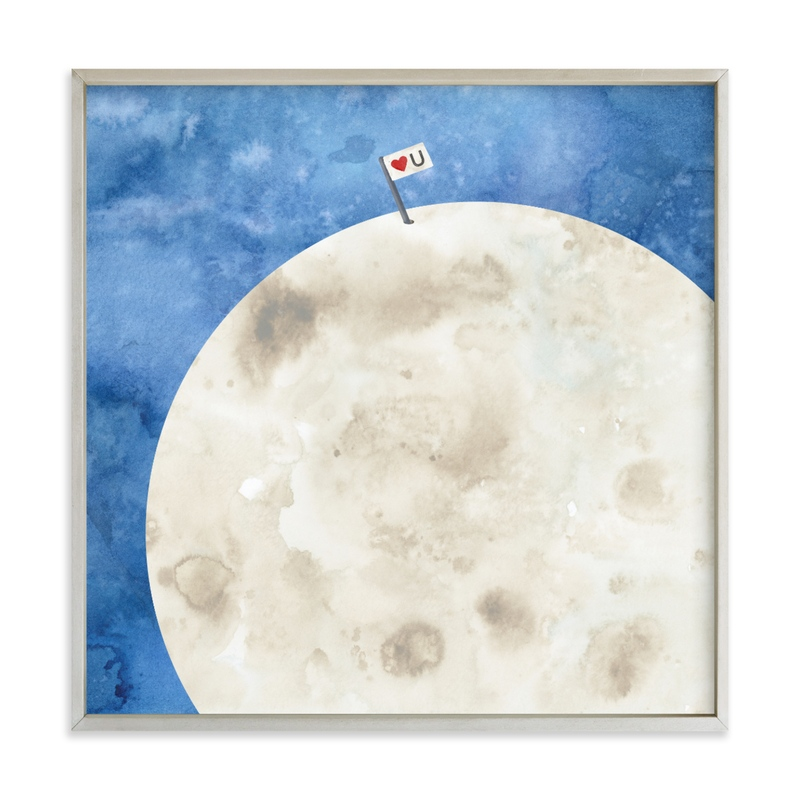 Moon And Back Children's Art Print