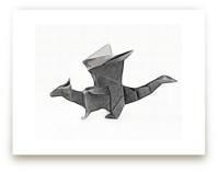 Paper Animals: Dragon by Maja Cunningham