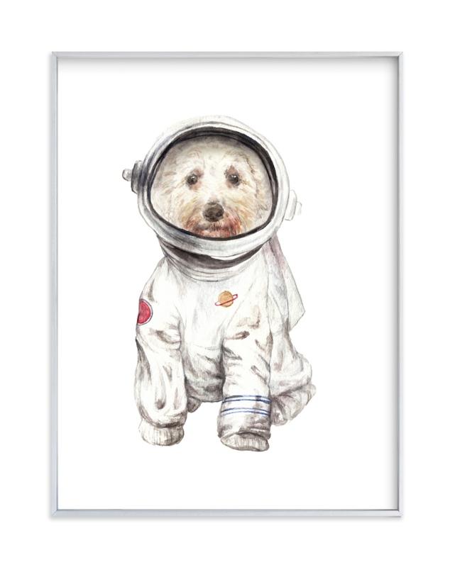 Laika the Space Pup Children's Art Print