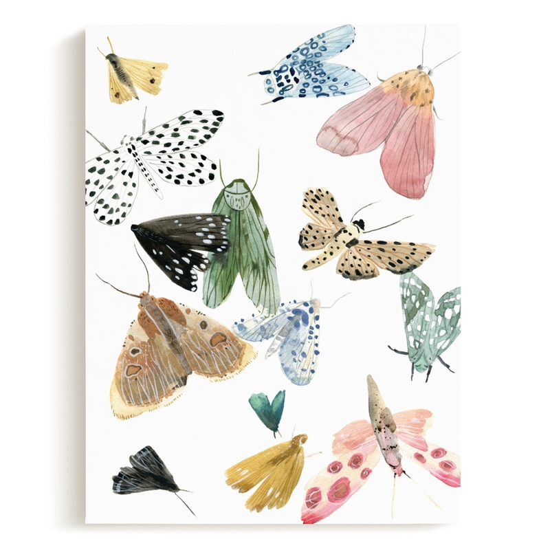 Moths Children's Art Print