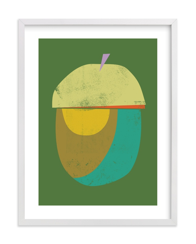 Acorn Children's Art Print