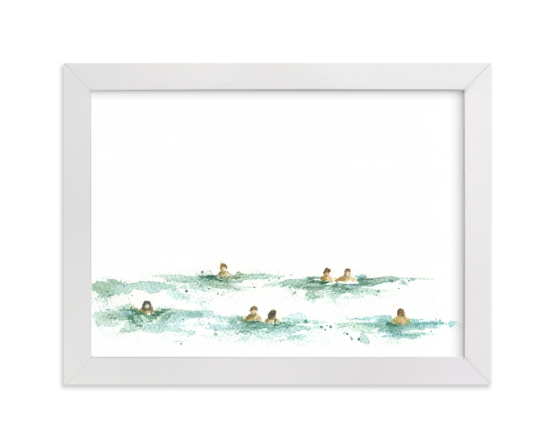 """""""Last summer"""" - Limited Edition Art Print by Lulaloo in beautiful frame options and a variety of sizes."""