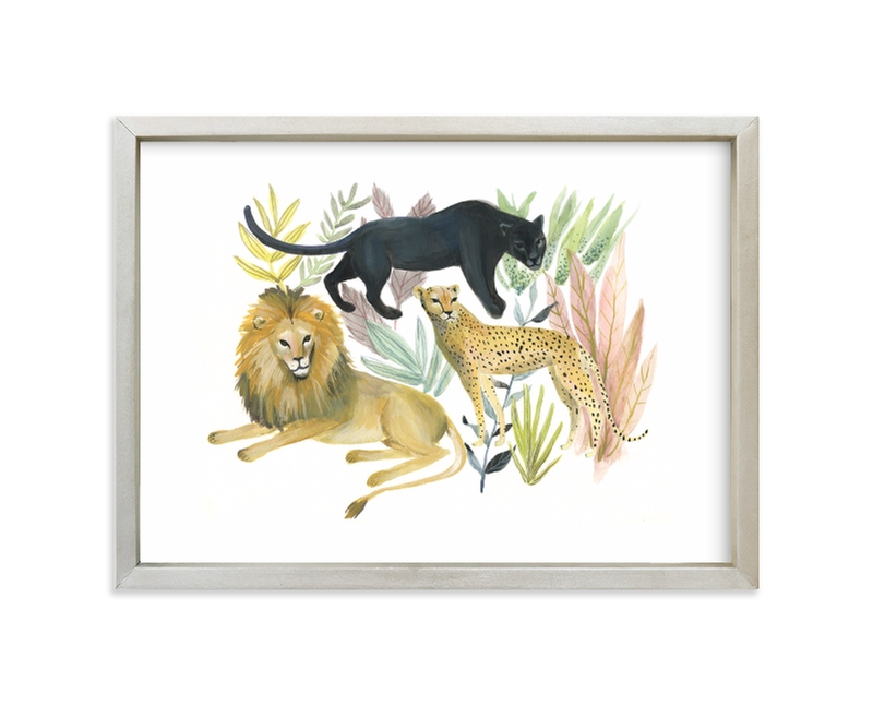 """""""Wild Cats"""" - Limited Edition Art Print by Emilie Simpson in beautiful frame options and a variety of sizes."""