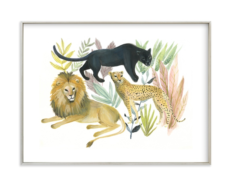 """Wild Cats"" - Limited Edition Art Print by Emilie Simpson in beautiful frame options and a variety of sizes."