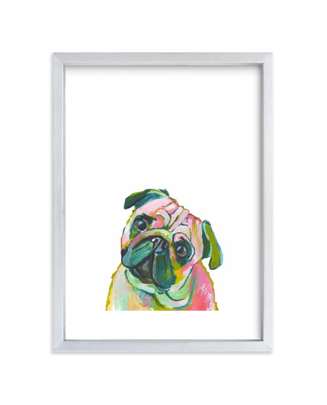 """""""Mr. Pug"""" - Limited Edition Art Print by Makewells in beautiful frame options and a variety of sizes."""
