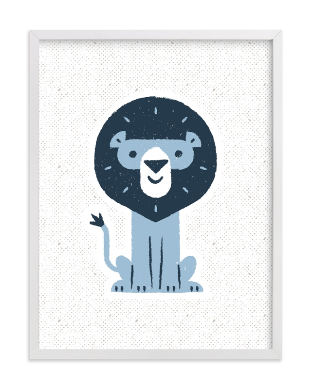 """mr LION"" - Limited Edition Art Print by Bob Daly in beautiful frame options and a variety of sizes."