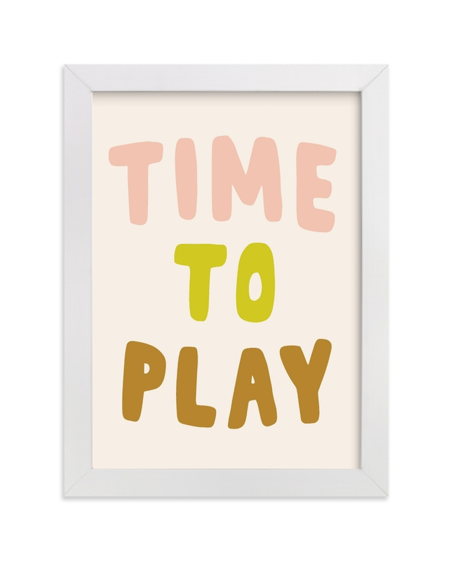 """""""Time to Play"""" - Limited Edition Art Print by Vine and Thistle in beautiful frame options and a variety of sizes."""