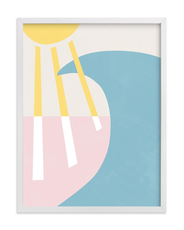 This is a blue kids wall art by Carolyn MacLaren called California Summer Day.