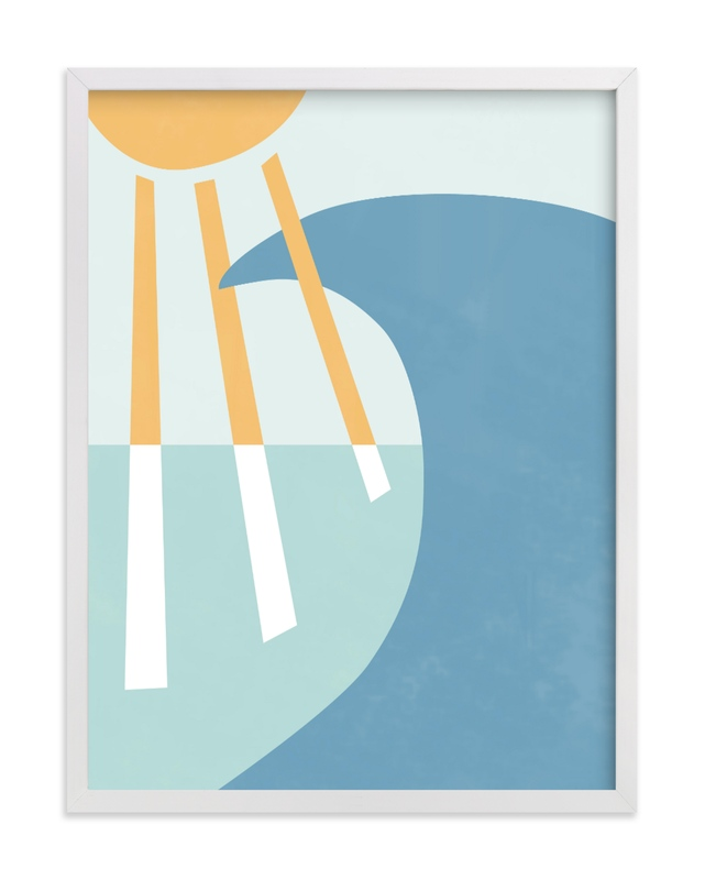 This is a green kids wall art by Carolyn MacLaren called California Summer Day.