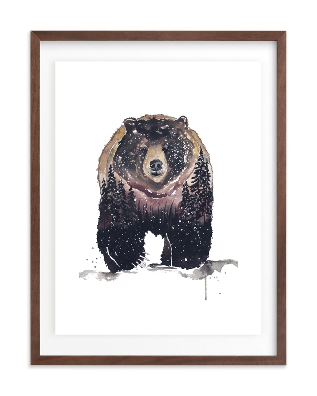 Nature Bear Children's Art Print