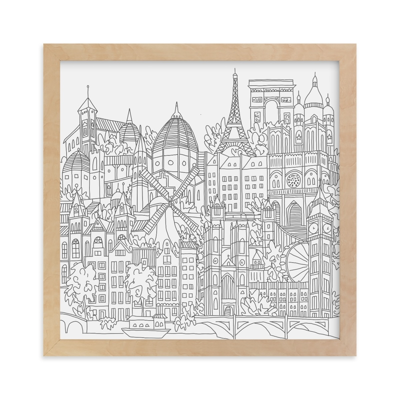 """""""Study Abroad"""" - Limited Edition Art Print by Krissy Bengtson in beautiful frame options and a variety of sizes."""