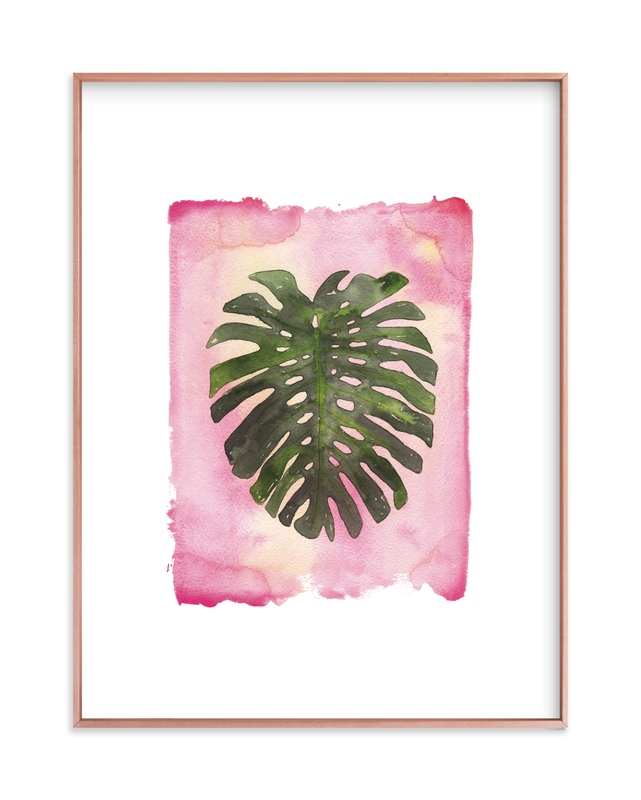 """""""Pink Palm"""" - Limited Edition Art Print by Kelsey McNatt in beautiful frame options and a variety of sizes."""