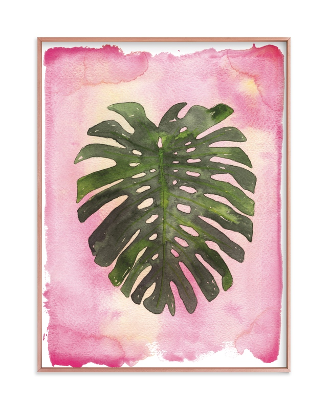"""Pink Palm"" - Limited Edition Art Print by Kelsey McNatt in beautiful frame options and a variety of sizes."