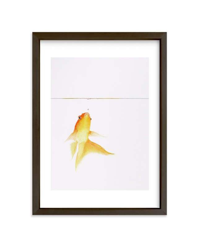"""""""Aquatic High Jump 1 of 3"""" - Limited Edition Art Print by Deborah Chou in beautiful frame options and a variety of sizes."""