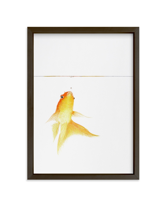 """Aquatic High Jump 1 of 3"" - Limited Edition Art Print by Deborah Chou in beautiful frame options and a variety of sizes."