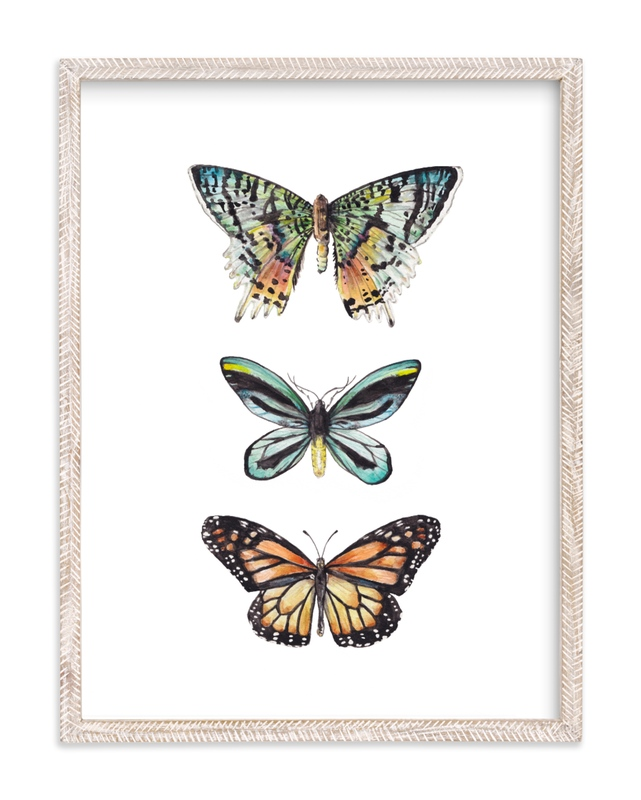 Butterfly Colorful Watercolors Children's Art Print