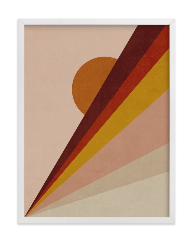 This is a beige kids wall art by Lucrecia called Abstract Sunrise.