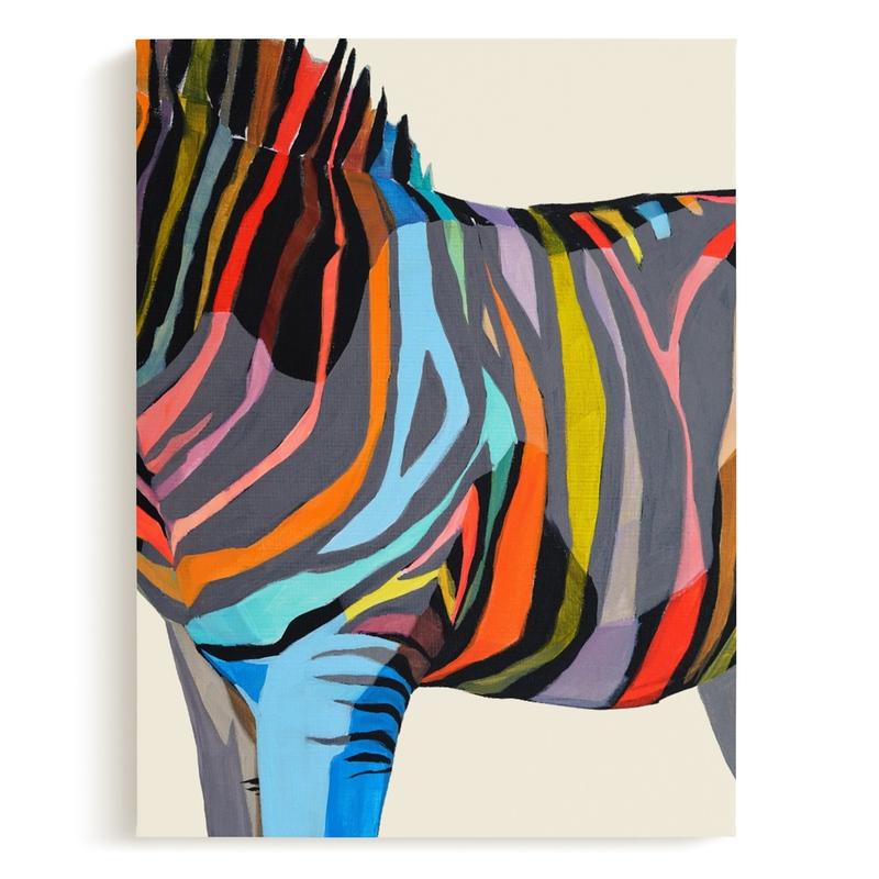Safari Stripes Children's Art Print