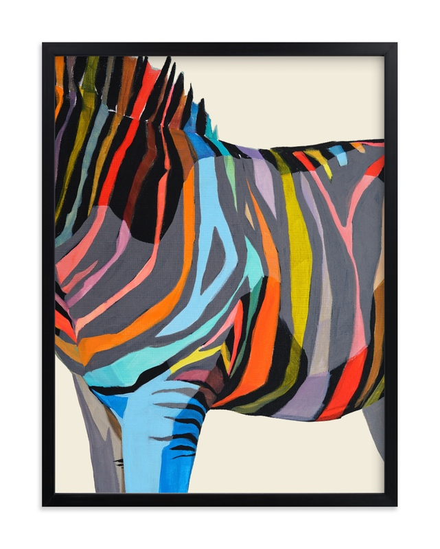 Safari Stripes Children's Art Print