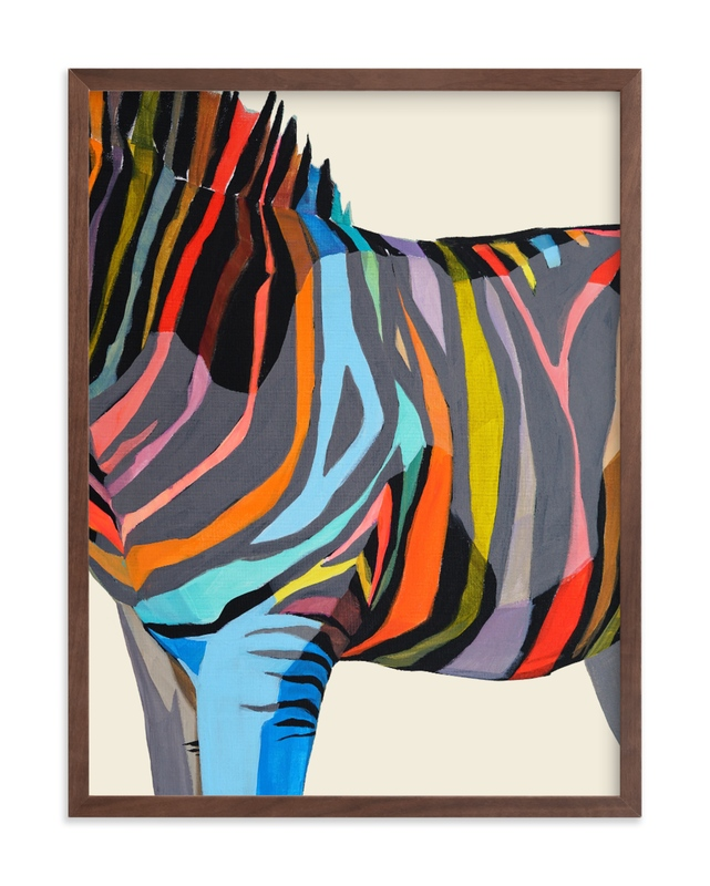 """""""Safari Stripes"""" - Limited Edition Art Print by Jess Franks in beautiful frame options and a variety of sizes."""