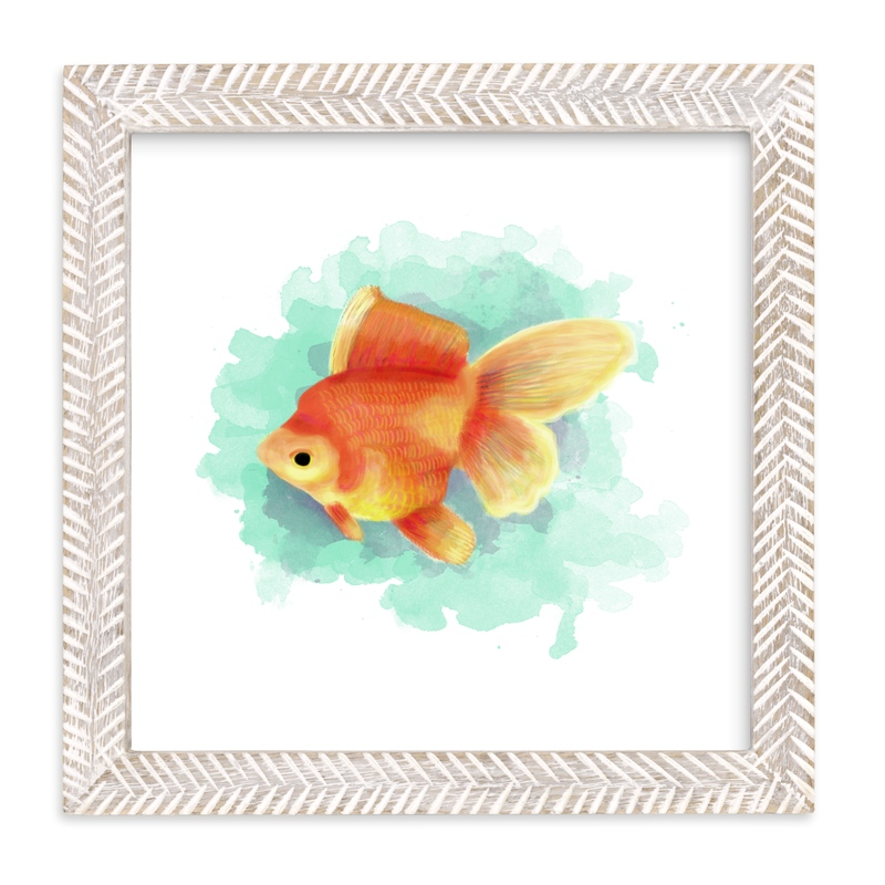 """Golden Fish"" - Limited Edition Art Print by iamtanya in beautiful frame options and a variety of sizes."