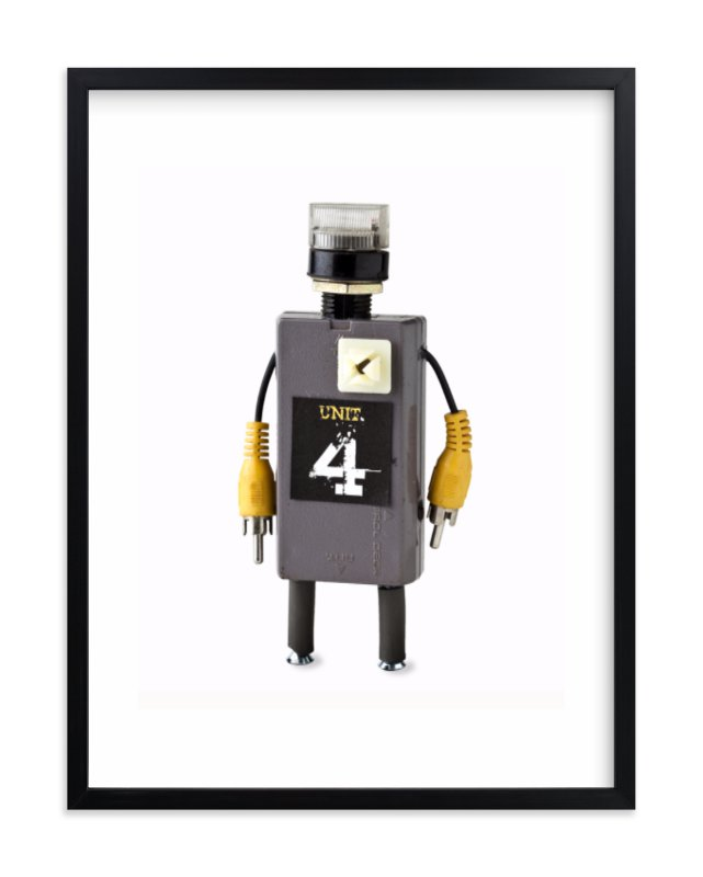 """Robot 3"" - Limited Edition Art Print by russell stephanchick in beautiful frame options and a variety of sizes."