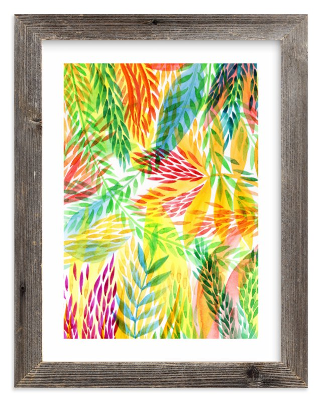 """""""Tropical"""" - Limited Edition Art Print by Alexandra Dzh in beautiful frame options and a variety of sizes."""