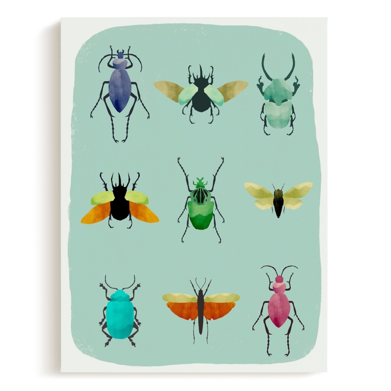 insect collection Children's Art Print