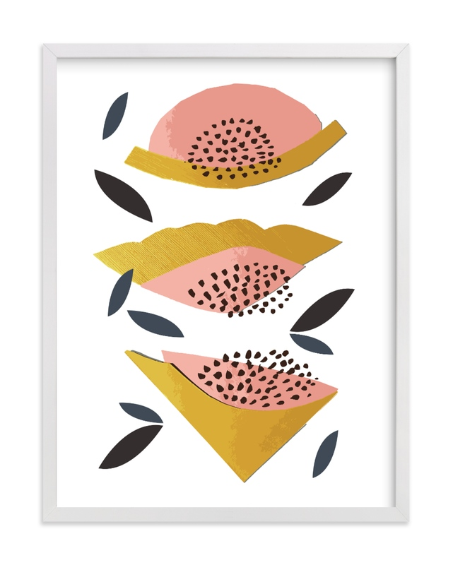 This is a colorful kids wall art by Jenna Skead called Honey Melon.