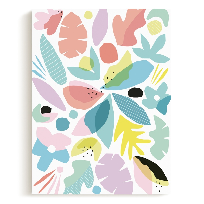 botanical burst Children's Art Print