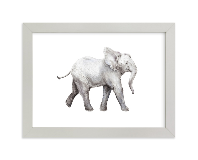 Baby Watercolor Elephant Painting Limited Edition Art Print By Lauren Rogoff
